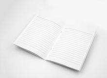 Blank booklet on White Background Stock Photo
