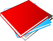 Blank Books Royalty Free Stock Photography