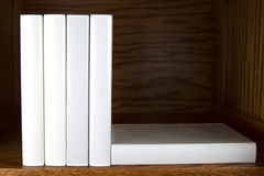 Blank Books on Shelf Royalty Free Stock Image