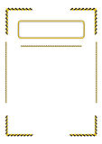 Blank with border for diploma or certificate. Royalty Free Stock Photography