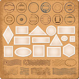 Blank borders and grunge rubber stamps Royalty Free Stock Photos
