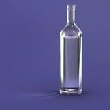 Blank bottle. Isolated on purple Royalty Free Stock Photo