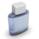Blank bottle of aftershave close-up Stock Photography
