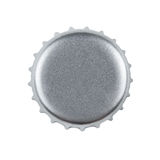 Blank bottle cap with clipping path. Silver bottle cap isolated on white background with clipping pat Royalty Free Stock Image