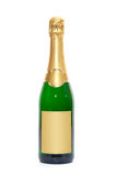 Blank bottle of champagne. Blank champagne bottle. All on white background Royalty Free Stock Photos
