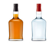 Blank bottles of alcohol drink Royalty Free Stock Image