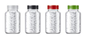 Blank bottles mockups for pills or other pharmaceutical preparations. Royalty Free Stock Photo