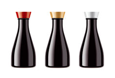 Blank bottles for soy sauces Stock Photography