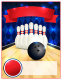 Blank Bowling Flyer Template Illustration Royalty Free Stock Image