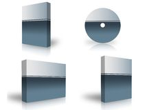 Blank box. Over white background- computer generated clipart Stock Image
