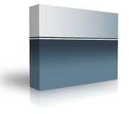 Blank box. Over white background- computer generated clipart Royalty Free Stock Image