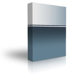 Blank box. Over white background- computer generated clipart Stock Photography