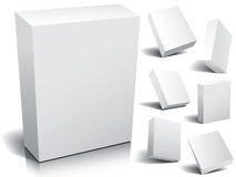 Blank box. Blank 3d boxes ready to use in your designs