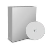 Blank box and cd. 3d blank box and cd or dvd disk Stock Photo