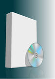 Blank box and disc. Blank 3d box with compact disc. 10 EPS Stock Photos