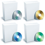Blank box and DVD, vector Royalty Free Stock Photography
