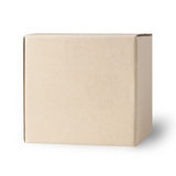 Blank Box isolated on white Royalty Free Stock Photo