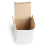 Blank Box isolated on white Stock Photography