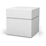 Blank box with lid Stock Photos