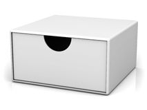 Blank box with lid Royalty Free Stock Photography