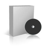 Blank Box for software. Blank 3d box for software on the white background Stock Images