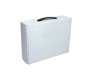 Blank box on white background on white isolate with clipping pat Royalty Free Stock Photo