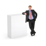 Blank Box With Business Man Stock Photo