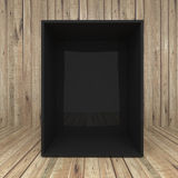 Blank box on Wooden background Stock Photo