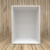 Blank box on Wooden background Royalty Free Stock Photo