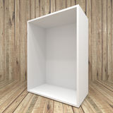 Blank box on Wooden background Royalty Free Stock Image