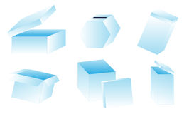 Blank Boxes Stock Images