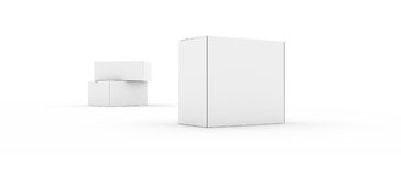 Blank boxes  on white Stock Photography