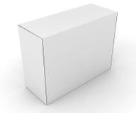 Blank boxes  on white Stock Photos