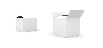 Blank boxes  on white Royalty Free Stock Images