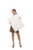 blank brädeaffärskvinna arkivfoto