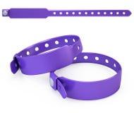 Blank bracelet  on white. 3d render Stock Images