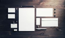 Blank branding stationery stock images