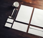 Blank branding stationery royalty free stock image