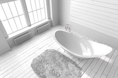 Blank bright bathroom Royalty Free Stock Photography