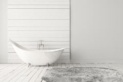 Blank bright bathroom Royalty Free Stock Image