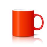 Blank bright red photo realistic cup isolated on Stock Image