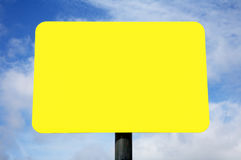 Blank bright yellow sign. Royalty Free Stock Photos