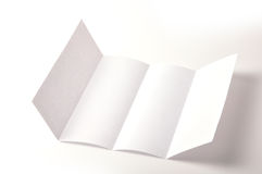 Blank brochure Royalty Free Stock Image
