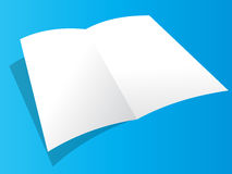 Blank brochure. Illustrations of blank brochure on blue background Royalty Free Stock Photos
