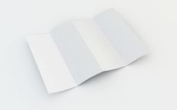 Blank brochure stock illustration