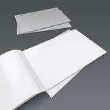 Blank brochure or catalog Stock Image