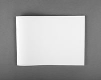 Blank Brochure magazine isolated on grey. To replace your design Royalty Free Stock Photography