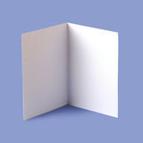 Blank brochure. White blank brochure on blue background Stock Image