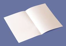 Blank brochure. White blank brochure on blue background Royalty Free Stock Photography