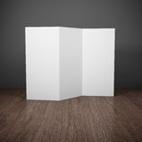 Blank brochure. On wooden table. 3D illustration Royalty Free Stock Photography